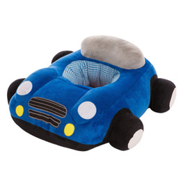 Small Child Toy Car UK - car cushion The baby learns to sit on the chair Christmas gift car children small sofa tatami stuffed toys with pillow dolls