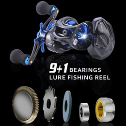 reel bodies 2018 - casting Sougayilang Carbon Body Baitcasting 9+1BB Casting Lure Fishing Reel Saltwater Carp wheel Fishing Tackle 18lb Dra