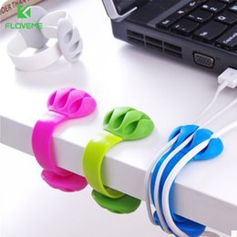 $enCountryForm.capitalKeyWord Canada - FLOVEME Cable Organizer USB Cable MP3 MP4 Line Management 3 Ports Winder Clip Silicone Charger Data Line Organizer