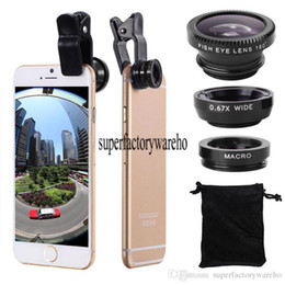 fisheye universal clip lens UK - 3 In 1 Universal Clip Mobile Camera Phone with Fisheye Lens for Iphone 7 5s 6 6s Samsung Galaxy S7 edge s8 s8 plus Huawei xiaomi