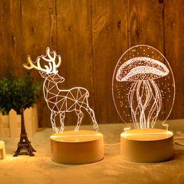 $enCountryForm.capitalKeyWord Australia - Novelty 3D table lamp decorative desk lamp Night Light Bedside bedroom Decoration LED Lamp indoor lighting 220v