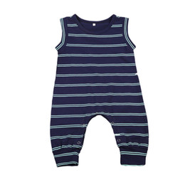 2e5a08cbf 24 month boy christmas outfits online shopping - Newborn Infant Toddler Boys  Striped Navy Jumpsuit Romper