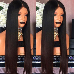 $enCountryForm.capitalKeyWord Australia - High quality Ombre dark brown Color brazilian full lace front wig Pre-plucked Hairline synthetic wig for black womem With Baby Hair