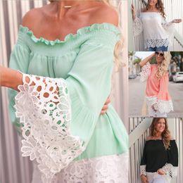 $enCountryForm.capitalKeyWord NZ - women Lace Shoulder chiffon Tank Top cap sleeve ruffle blouse Embroidery flower solid color Elastic Shirt women sexy chiffon beach cover Up