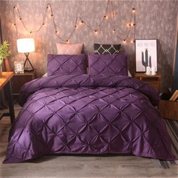 $enCountryForm.capitalKeyWord NZ - Bedding set Comforter Queen size Ropa de cama Pull flower Pure color Duvet cover Pillowcase Black Whilt Blue Super King Home