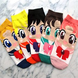 Arts rAbbit online shopping - Designer Luxury Socks Personality Lovely Cute Cartoon Sock Sailor Moon Month Rabbits Water Ice Breathable Cotton Stockings lx jj