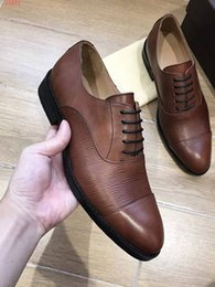 $enCountryForm.capitalKeyWord Canada - Top Quality brand Formal Dress Shoes For Gentle Men Black Genuine Leather Shoes Pointed Toe Men's Business Oxfords Casual Brown Shoes 38-44