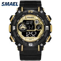smael watches Canada - LED Digital  Army Watches SMAEL Men Watch Digital relogio Sport Watches Waterproof1317 Men Digital Wristwatches