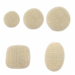 China Natural Plant Cambric Fiber Pad Back Brush Shower Sponge Soft Exfoliating Natural Cambric Fiber with Terry Cloth supplier natural fiber sponge suppliers