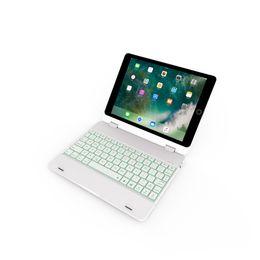 $enCountryForm.capitalKeyWord Australia - Ultra Slim Protable Shell Aluminium Folio Wireless Bluetooth Keyboard Backlight Wireless Keyboard Stand case Cover for iPad6 9.7 Air 2 3