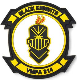 High Quality Backpack Brands Australia - Brand New BLACK KNIGHTS High Quality Rubber PVC Badge Clothing Backpack Bag Cap Sewing Applique Encouraging Morale Tactical Armband