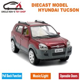 China 1:24 Scale Diecast Hyundai Tucson Model, 18CM Alloy Car, Boys Metal Toys With Gift Box Pull Back Function Light Sound supplier hyundai car models suppliers