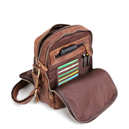 ipad mini bag men NZ - Nesitu High Quality Brown Coffee Soft Genuine Leather Small Men Messenger Bags For ipad mini Real Skin Male Shoulder Bag M6423