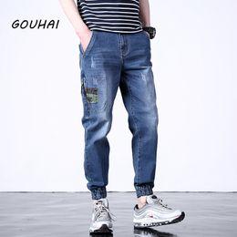 $enCountryForm.capitalKeyWord Canada - Autumn Casual Jeans Men Pants Patchwork Hip Hop Streetwear Mens Biker Jeans Men Denim Overalls Male Joggers Plus Size S-6XL