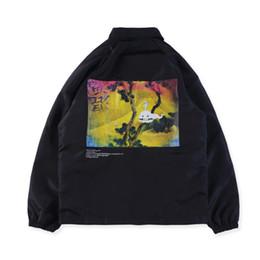 Kids Jackets S Letter UK - Kanye West Windbreaker Men Women Jackets Hip Hop Fear Of God KIDS SEE GHOSTS Streetwear Season 5 Jacket Windbreak Trench Coat