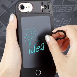 Iphone foldIng stand online shopping - Soft TPU For IPhone plus plus plus Case With Wordpad Writting Board Phone Cover With Folding Stand Phone Accessorise
