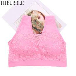 803764925f016 HIBUBBLE Women Crop Top Bras Wirefree Padded Push Up Bra One-piece Seamless  Bra Women Sexy Lace Bralette Top Underwear 2017 New