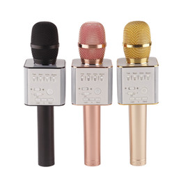 online shopping Q9 Bluetooth Wireless Microphone Handheld Microfono KTV With Speaker Mic Loudspeaker Portable Karaoke For iphone android phone