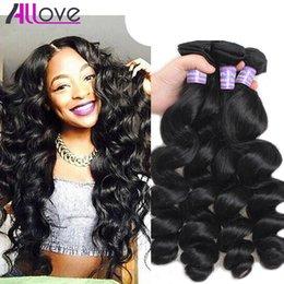 Best cheap hair waves online shopping - Allove Best A Loose Wave Bundles Brazilian Hair Peruvian Loose Wave Cheap Malaysian Human Hair Extensions Indian