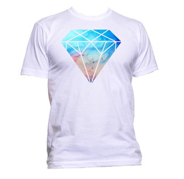 e5687e07b Diamond Galaxy Modern Space Dripping Crystal T-Shirt Mens Womens Unisex  Fashion