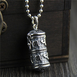 $enCountryForm.capitalKeyWord Canada - 925 sterling silver pendant Six words really ga Wu box pendant vintage Thai silver jewelry pendant for men and women hip hop jewelry china