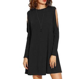 8f526fd6f1f7 Vestire la moda coreana online-Srogem Donna Tinta unita Camicetta Off  spalla Manica lunga Girocollo