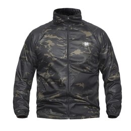 Waterproof Raincoat Camouflage Canada - Navy Seal Summer Tactical UPF40 Lightweight Camouflage Jacket Men Waterproof Ultra Thin Raincoat Windbreaker Military Army Skin Jackets