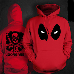 Discount deadpool quality costume high quality deadpool hoodie men zipper cosplay costume woman sweatshirt jacket jaket hood deadpool hoodie men