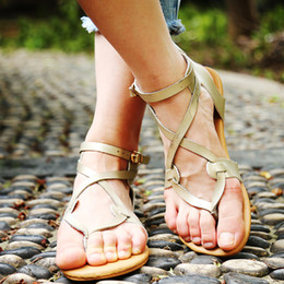 Discount peep toe sandals low heels - Bigsweety Sandals Women Flat Shoes Bandage Bohemia Leisure Lady Casual Sandals Peep-Toe Outdoor Casual Low Heels