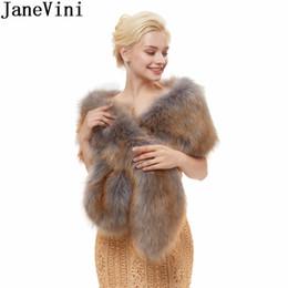 Shrugging Jacket Australia - JaneVini 2018 Ladies Fur Jacket Wrap Shrug Bolero Coat Wrap Cape Bride Faux Fur Wedding Shawl Bridal Wraps Wedding Accessories New Arrival