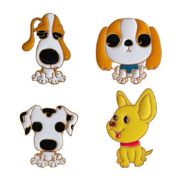 wholesale african clothing women UK - Small Size Enamel Lapel Pins For Women Men Children Cute Dog Pet Brooches Pins 2018 New Fashion Jewelry Clothes Backpack Jacket Accessories