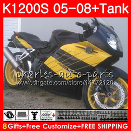 $enCountryForm.capitalKeyWord NZ - Body For BMW K-1200S Yellow blk K 1200 S 05 10 K1200 S 05 06 07 08 09 10 103HM.43 K 1200S K1200S 2005 2006 2007 2008 2009 2010 Fairing kit