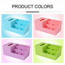 Discount types makeup box - Multifunctional Desktop Shelves Storage Box Durable Plastic Makeup Storage Box Organizer Tissue Small Items Case