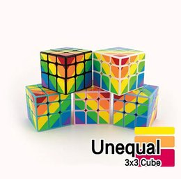 colorful puzzles UK - 3x3 Magic Cube Toys Puzzle Magic Twist Game Toys Unequal Magic Cube Adult and Children Colorful Learning Educational Toys Gifts
