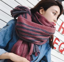 Small Scarf korean online shopping - Scarf Women Winter Korean Version of the New Style Wool Shawl Korean Students Small Fresh Long Thick Warm Neck