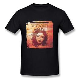 A Miseducation de Lauryn Hill Personalidade Gráfica Casual T-shirt Verão Preto Dos Homens de Impressão T Shirt Estilo Ocidental venda por atacado