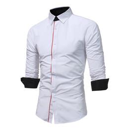 $enCountryForm.capitalKeyWord NZ - HOT 2018 Autumn winter fashion joker Mens Long Sleeve Shirts Slim fit Casual Shirt for Men starry sky pentagram dress shirts