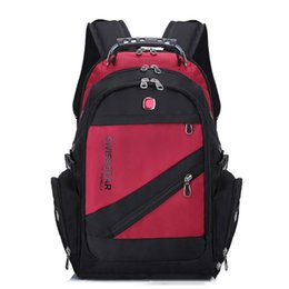 SwiSS backpackS online shopping - Swiss Backpack Hiking Camping Backpacks Travel Laptop Bag Schoolbag Sport Gym Outdoor Duffel Bag DHL Shipping