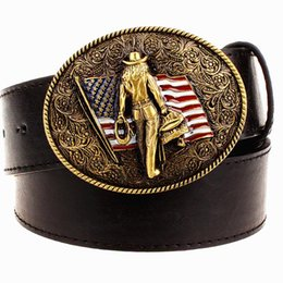 Wild Personality Men s belt metal buckle colour western cowboy belts  American cowboy style trend belt for men gift free shipping aab4bca28bf
