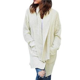 09a2039941 2018 Women Long Cardigans Autumn Winter Open Knitting Poncho Knitted  Sweater Cardigans V neck Oversized Cardigan Jacket Coat