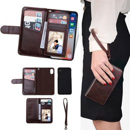 $enCountryForm.capitalKeyWord NZ - 2018 New Arrival Creative Multi-function Handbag Leather Case Wallet Flip Cover With Card Slots Car Magnetic Funcion for iPhone Samsung