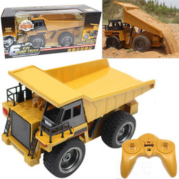 Cars dump online shopping - 1 Scale Channel Alloy Electric RC Dump Truck Buggy Vehicle Toy Children Remote Control Engineering Car Truck Toys Fun Gifts
