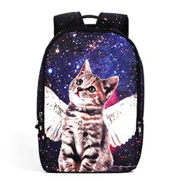 China Children School Bag 3D Stereoscopic Galaxy Cat Printing Stars Backpack 22L Soft Bag Laptop Backpacks Girls Boys School Bags BB81 cheap stereoscopic bag suppliers