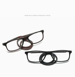 ead8f8d546 Men Women Magnet Reading Glasses Unisex Folded Colorful Adjustable Hanging  Neck Magnetic Front Presbyopic Glasses