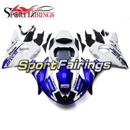 $enCountryForm.capitalKeyWord NZ - Gloss White Blue Full Fairings For Yamaha YZF600 R6 YZF-R6 Year 2003 2004 Sportbike ABS Motorcycle Fairing Kit Bodywork Cowlings