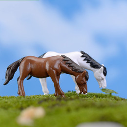 fine horse 2019 - Moss Lichen Micro Landscape Decoration Fairy Garden Miniatures Natural Resin Ornament Simulation Mini Fine Horse Pony Do