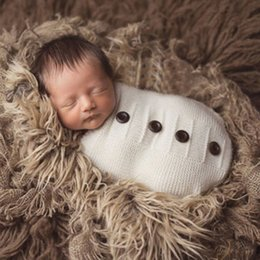 Baby Crochet Wrap NZ - Baby Photography Props Newborn Photography Wraps Handmade Crochet Knitted Sleeping Bag Wool Knitted Photo Props Accessories