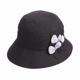 woman summer cloth hats UK - 2018 New Women Summer Simple Fashion Flower Patchwork Panelled Sunscreen Cloth Hats Female Casual Foldable Sunshade Bucket Hats