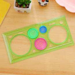 $enCountryForm.capitalKeyWord NZ - 10 pieces Puzzle Spirograph student Geometric ruler transparent children painting practice tools Drafting Tools gift For Students kids