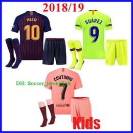 Barcelona 2018 MESSI SUAREZ Kids Jersey Soccer 2019 Camisas Blue Dembele  Messi INIESTA Home Football Shirt 18 19 Kids Kit e4edfa4bf